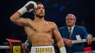 Садриддин Ахмедов показал выигранный нокаутом пояс WBC и обратился к казахстанцам