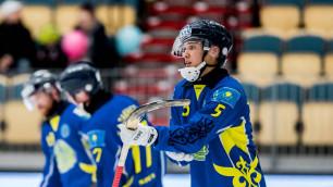 Казахстан одержал первую победу на ЧМ-2019 по бенди и вышел в полуфинал