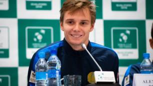В четвертом сете я бы умер - Бублик о победе в дебютном матче за Казахстан в Кубке Дэвиса