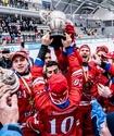 Сборная России по бенди вырвала победу у Швеции в овертайме и в 12-й раз стала чемпионом мира