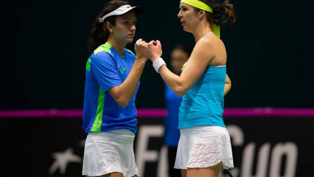 Казахстанские теннисистки обыграли Китай и вышли в плей-офф второй мировой группы Кубка Федерации