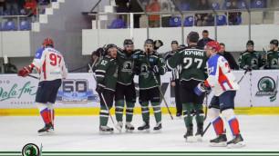 Стали известны все пары первого раунда плей-офф чемпионата Казахстана по хоккею