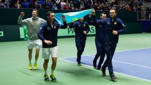Сборная Казахстана по теннису узнала соперников по финальной стадии Кубка Дэвиса