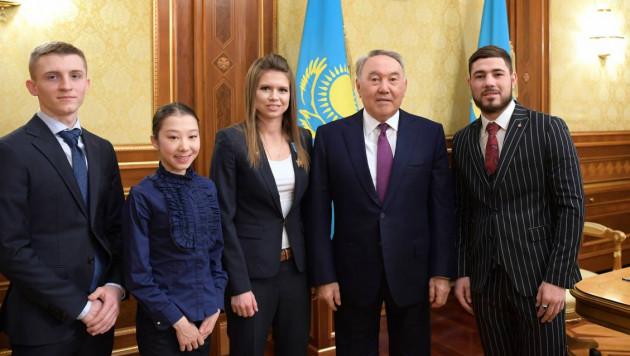 Назарбаев встретился с Галышевой, Турсынбаевой, молодежным чемпионом WBC Ахмедовым и летающим лыжником Ткаченко