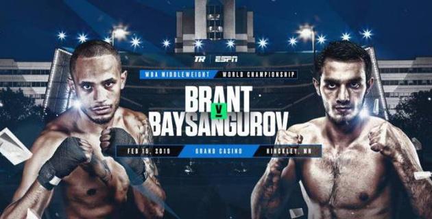 Прямая трансляция боя Роб Брант - Хасан Байсангуров за титул WBA в весе Головкина