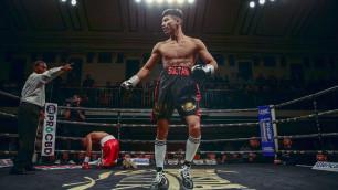Финалист молодежного ЧМ из Казахстана выиграл нокаутом в бою с тремя нокдаунами