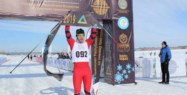 В Астане прошел чемпионат Казахстана по зимнему триатлону
