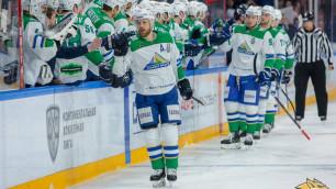 """""""Салават Юлаев"""" победил """"Металлург"""" в овертайме и вышел вперед в серии плей-офф КХЛ"""