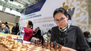 Женская сборная Казахстана по шахматам впервые в истории заняла пятое место на командном чемпионате мира
