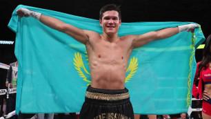 Данияр Елеусинов поднялся в мировом рейтинге после шестой победы в профи