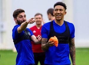 Сборная Шотландии по футболу провела тренировку в Астане накануне матча с Казахстаном