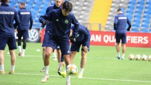 Сейдахмет, Зайнутдинов и Меркель в одной команде, или как сборная Казахстана провела тренировку перед стартом в Евро-2020
