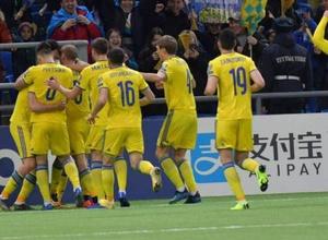 Сборная Казахстана за четыре минуты забила два мяча в стартовом матче отбора на Евро-2020