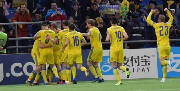Видеообзор исторической и сенсационной победы сборной Казахстана на старте отбора на Евро-2020