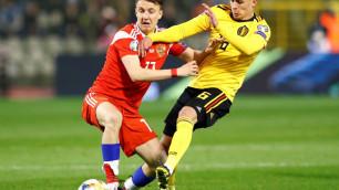 Сборная России проиграла Бельгии и потеряла лидера из-за удаления перед матчем с Казахстаном