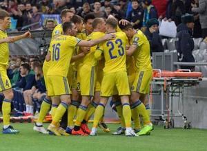 Сборная Казахстана занимает второе место в группе после первого тура отбора на Евро-2020