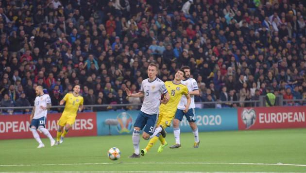 Сборная Казахстана крупно проиграла России и потерпела первое поражение в отборе на Евро-2020