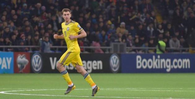 В КФФ прокомментировали появление в матче с Россией отсутствовавшего в заявке футболиста сборной Казахстана