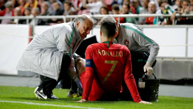 Роналду разбил нос и получил первую травму в сезоне
