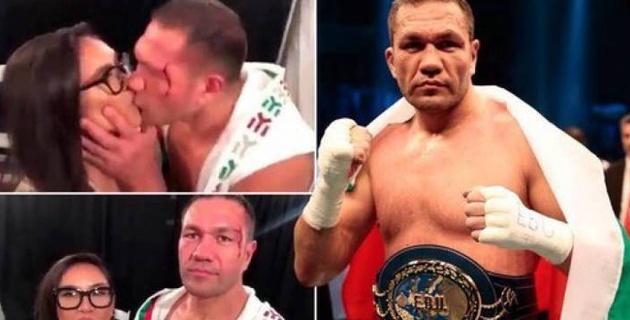 Журналистка подаст в суд на болгарского боксера за поцелуй во время интервью