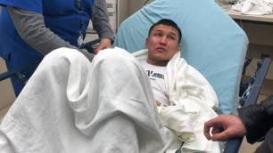 Казахстанец из Top Rank попал в больницу после первого досрочного поражения в карьере