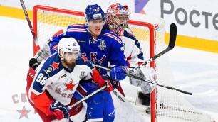 СКА победил ЦСКА и сравнял счет в финальной серии Западной конференции КХЛ