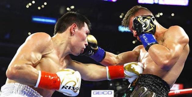 Алимханулы получил травму в победном бою за титулы от WBC и WBO
