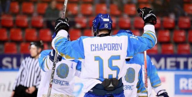 Сборная Казахстана одержала первую победу на юниорском ЧМ по хоккею в матче с 9 шайбами