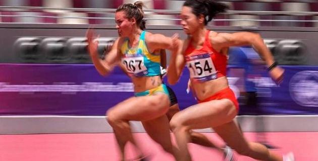 Казахстанская легкоатлетка с рекордом завоевала золотую медаль на чемпионате Азии в беге на 100 метров