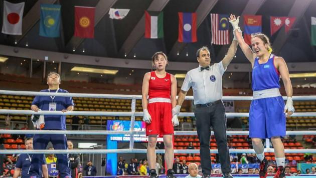 Казахстанка с опытом боев в профи гарантировала себе медаль чемпионата Азии по боксу