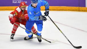 Сборная Казахстана по хоккею проиграла сопернику по чемпионату мира в товарищеском матче