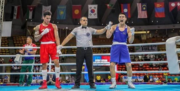 Видео боя, или как казахстанец Нурмаганбет победил в финале и стал чемпионом Азии по боксу