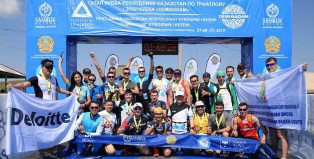 В Туркестанской области прошел первый этап Кубка Казахстана по триатлону