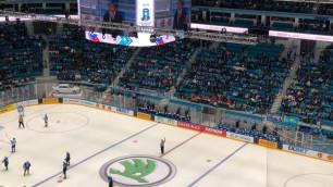 В Нур-Султане не смогли собрать аншлаг на первом матче сборной Казахстана на ЧМ по хоккею
