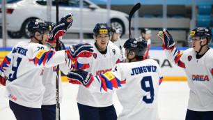 Южная Корея отыгралась с 1:3 и вслед за Казахстаном нанесла Словении поражение на ЧМ по хоккею