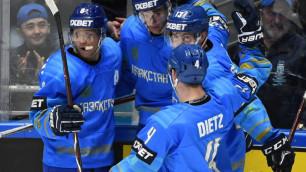 Сборная Казахстана по хоккею одержала третью подряд победу и вышла на второе место на ЧМ-2019