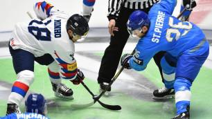 Видеообзор матча, или как Казахстан одержал третью подряд победу на ЧМ-2019 по хоккею