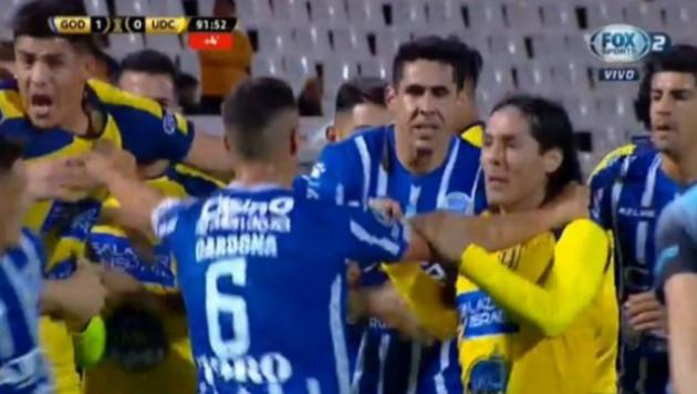 Матч Кубка Либертадорес закончился массовой дракой