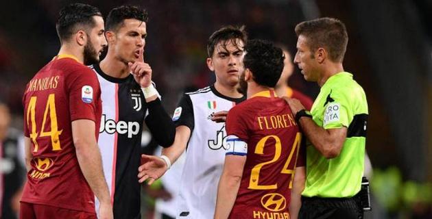 """Роналду повздорил с защитником """"Ромы"""" и поиздевался над его ростом"""