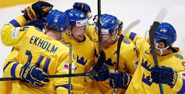 Швеция забросила Австрии пять шайб за первые 15 минут и одержала разгромную победу на ЧМ по хоккею