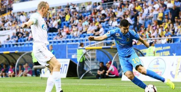 Казахстанец Зайнутдинов стал лучшим игроком в победном матче с чемпионом России