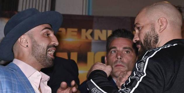 Экс-чемпион мира по боксу плюнул в российского друга и спарринг-партнера МакГрегора перед боем
