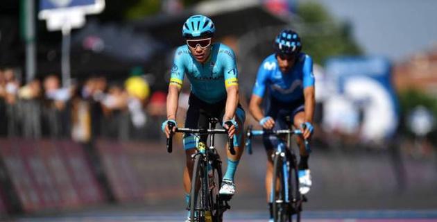 """Капитан """"Астаны"""" Лопес остался в десятке лидеров """"Джиро д'Италия"""" после 14-го этапа"""
