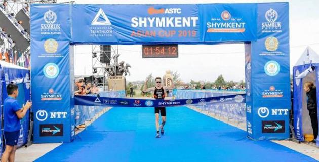 Казахстанцы заняли призовые места на открытом Кубке Азии по триатлону