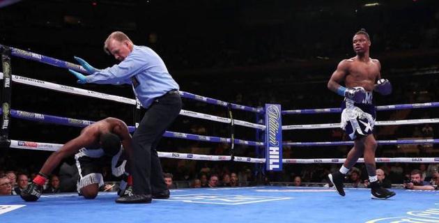 Проспект из веса Головкина впечатлил нокаутом после двух нокдаунов в первом раунде