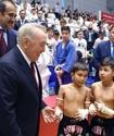 Назарбаев встретился со спортсменами Ассоциации боевых искусств Казахстана на открытии атлетического центра