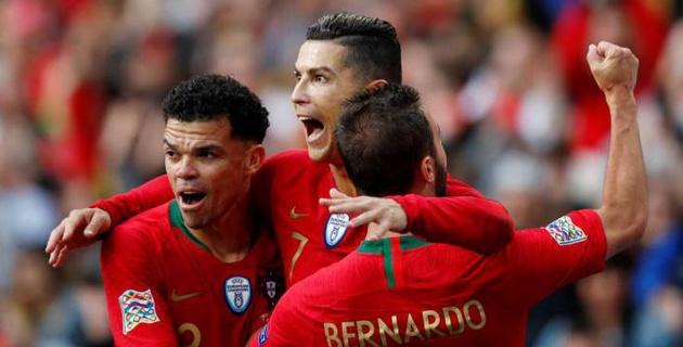 Хет-трик Роналду вывел сборную Португалии в финал Лиги наций