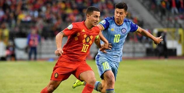 Сборная Казахстана разгромно проиграла Бельгии в гостевом матче отбора на Евро-2020