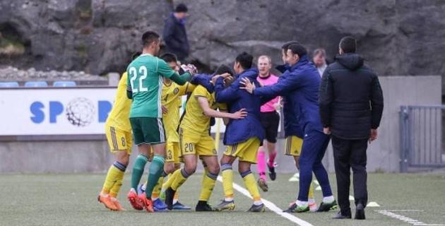 """Победа над Фарерами стала четвертой подряд для казахстанской """"молодежки"""" на стартах отбора к Eвро"""