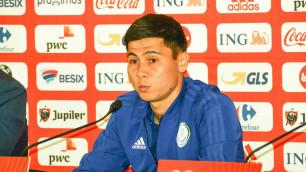 Исламхан рассказал о матче с Бельгией и своем состоянии перед игрой с Сан-Марино